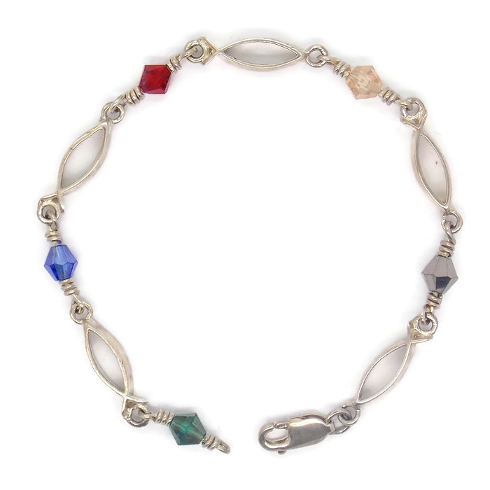 acts bracelet fishers of sterling silver